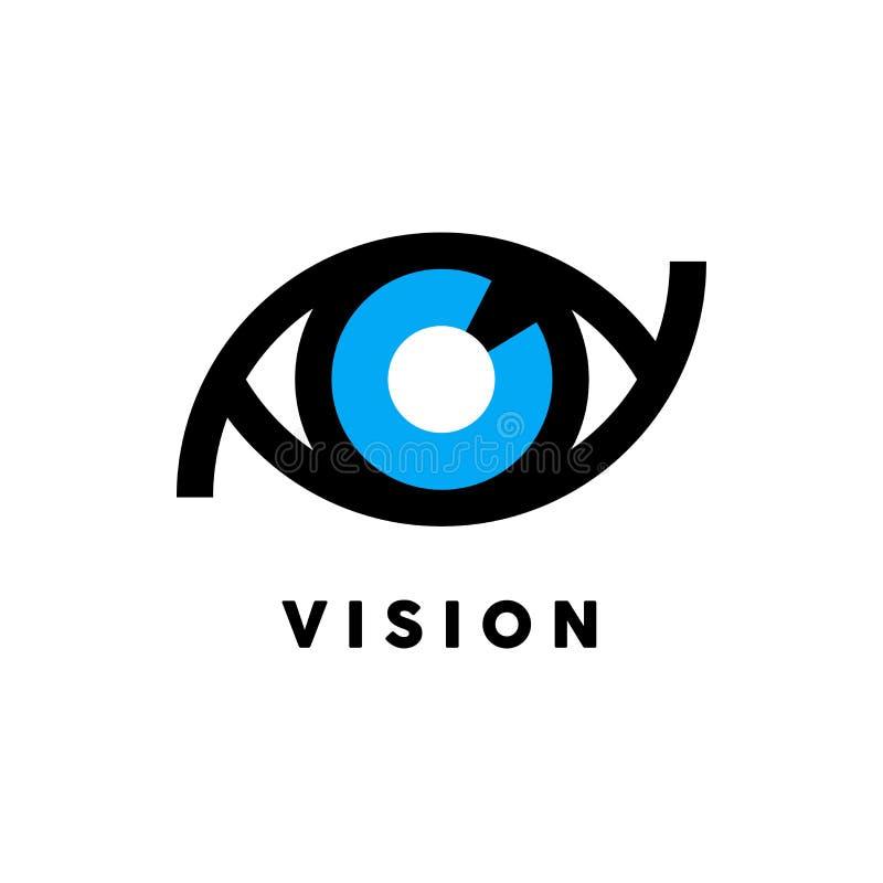 Logotipo abstracto de la visión con concepto del icono del ojo Ilustración del vector stock de ilustración