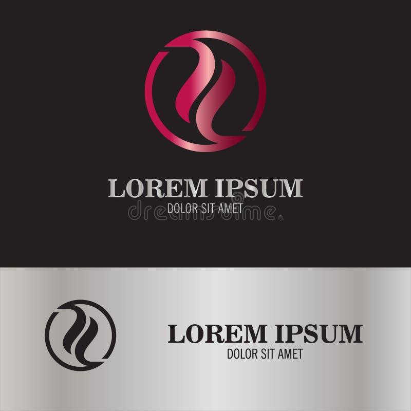 Logotipo abstracto de yang del yin ilustración del vector