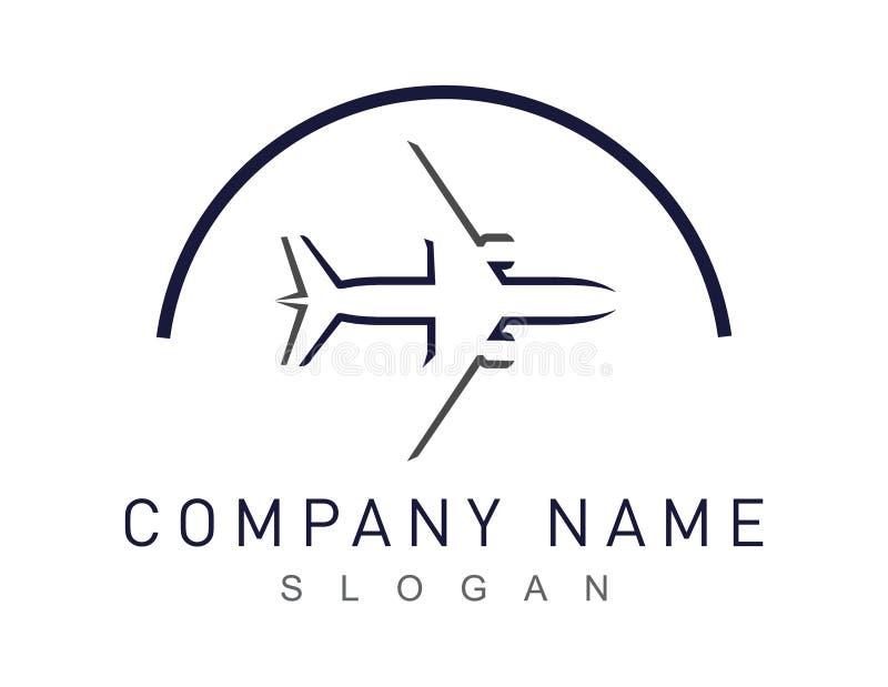 Logotipo abstracto del aeroplano en un fondo blanco ilustración del vector