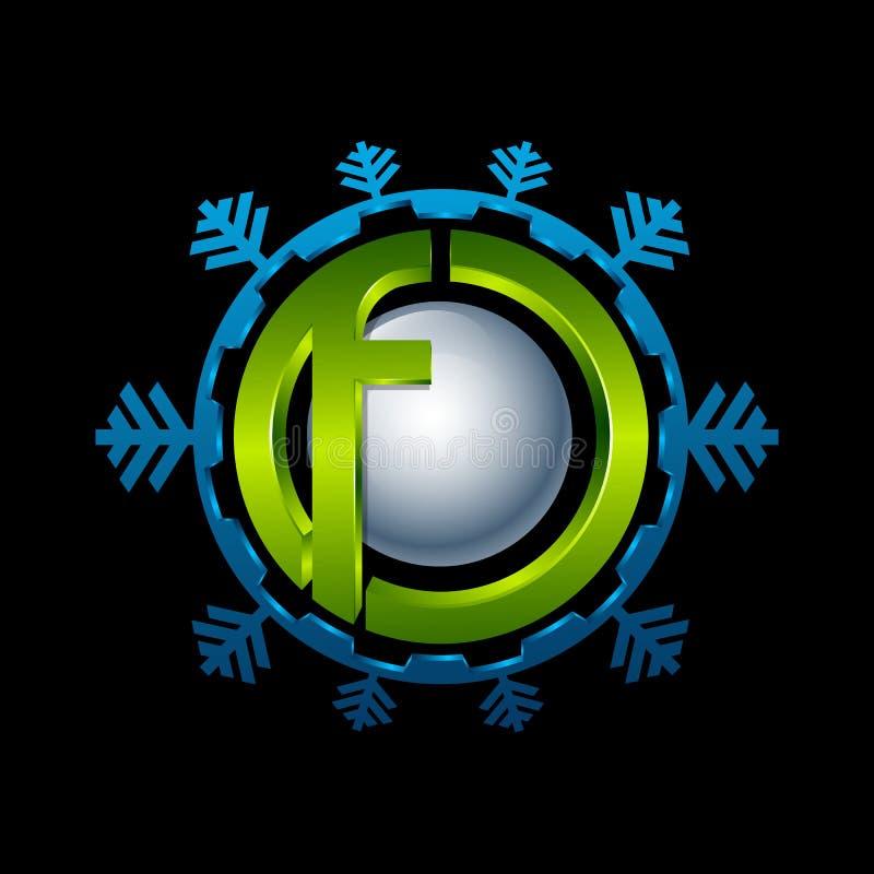 Logotipo abstracto del círculo del azul y de la turquesa Nueva tecnología médica ilustración del vector