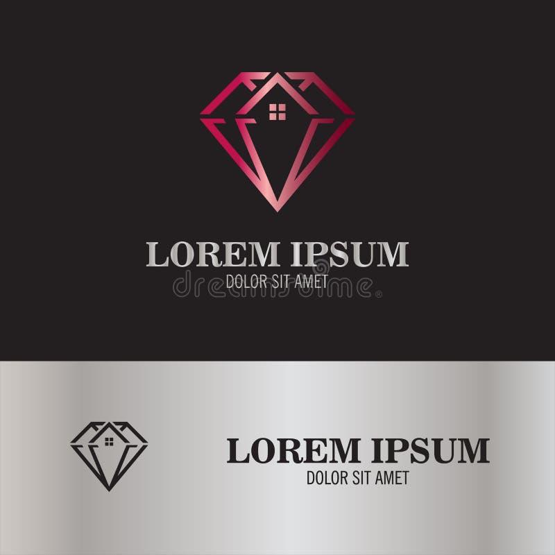 Logotipo abstracto del diamante foto de archivo