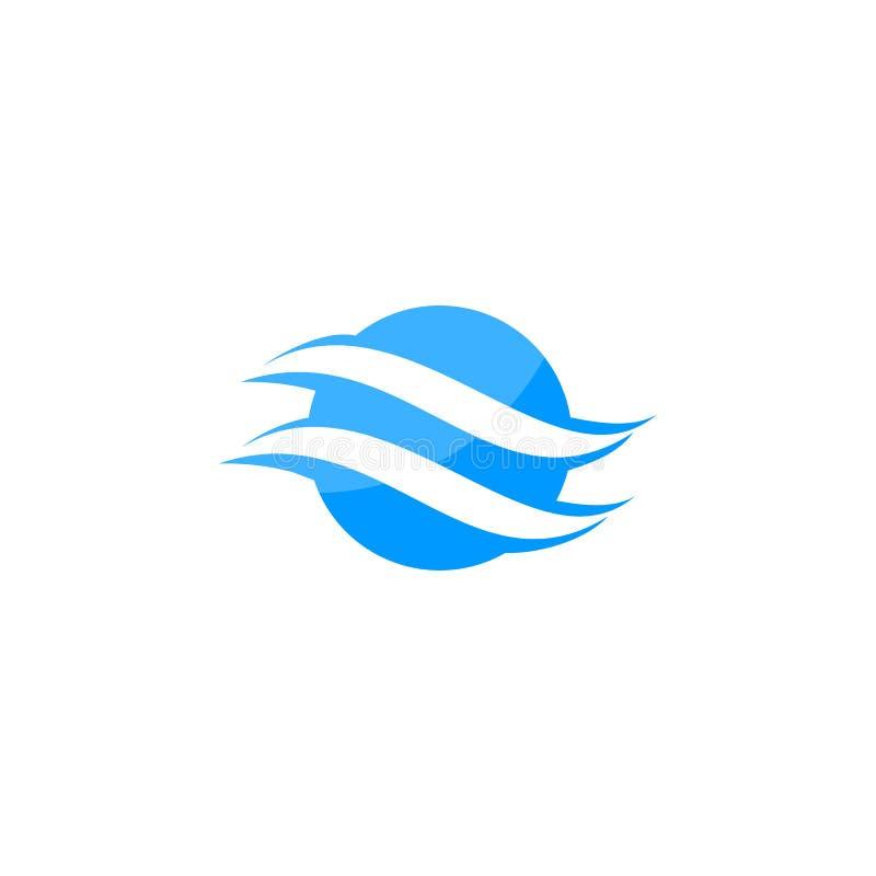 Logotipo abstracto del globo de la letra de S ilustración del vector