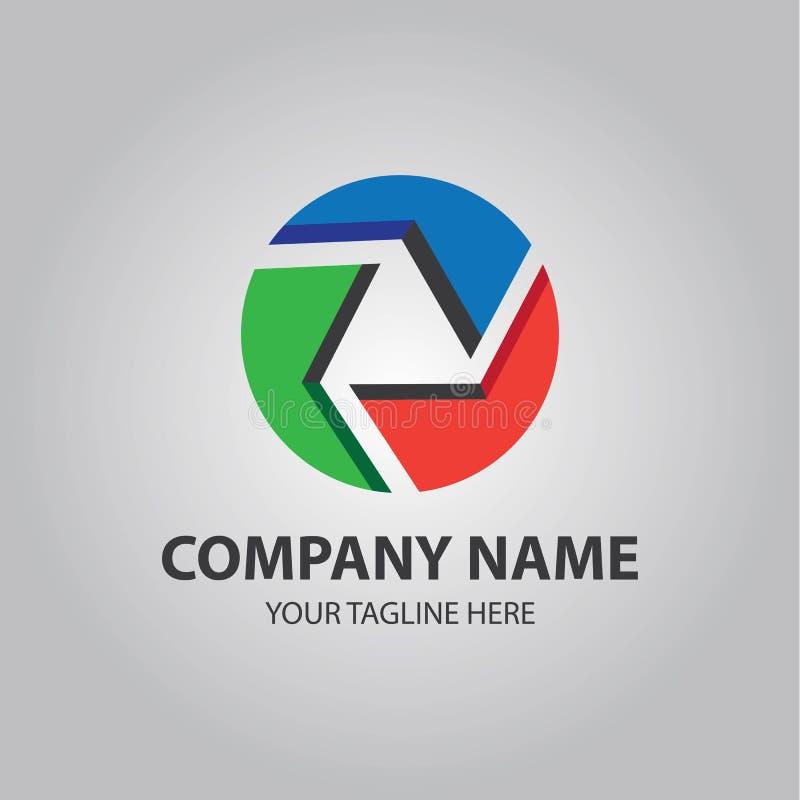 Logotipo abstracto del lazo del triángulo libre illustration