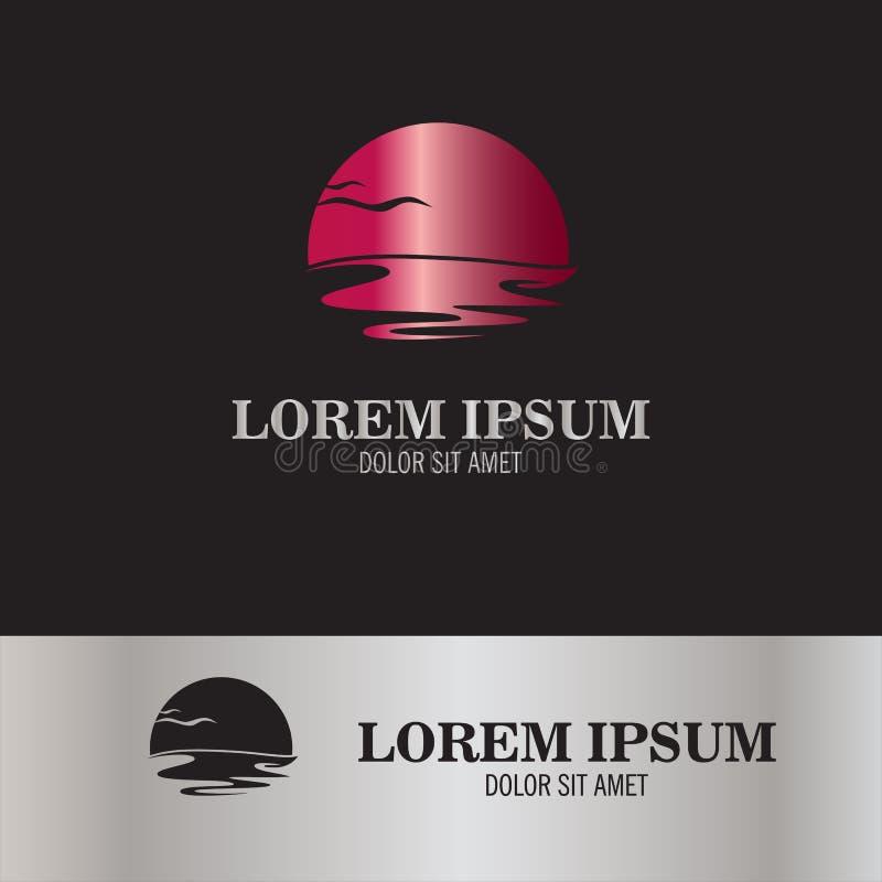 Logotipo abstracto del mar foto de archivo libre de regalías