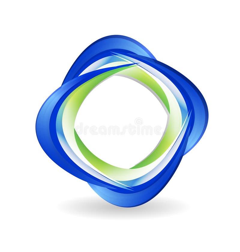Logotipo abstracto del negocio ilustración del vector