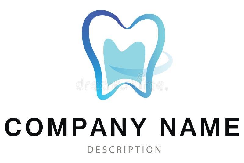Logotipo abstracto del vector del diente ilustración del vector