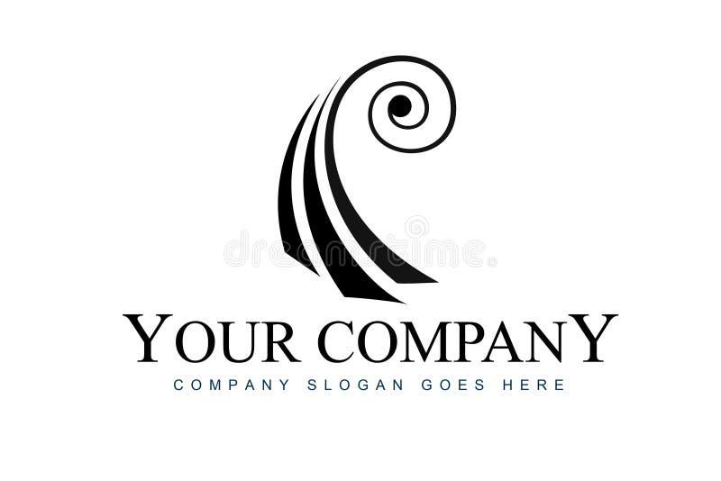 Logotipo abstracto del violín libre illustration