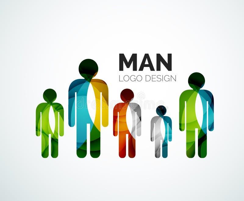 Logotipo abstracto - icono del hombre ilustración del vector