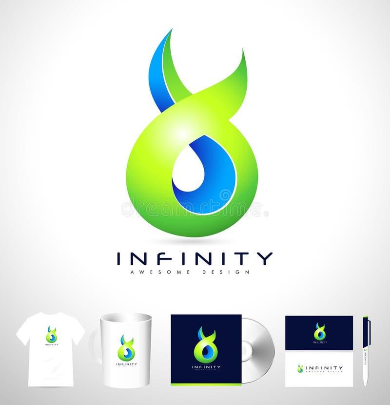 Logotipo abstracto infinito creativo stock de ilustración