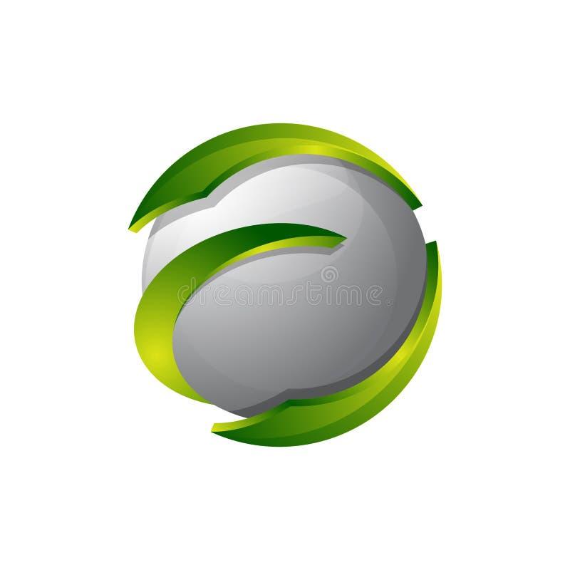 Logotipo abstracto para la empresa de negocios EL del diseño de la identidad corporativa stock de ilustración