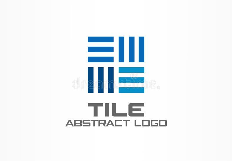 Logotipo abstracto para la empresa de negocios Elemento del diseño de la identidad corporativa Construcción, integrado industrial stock de ilustración