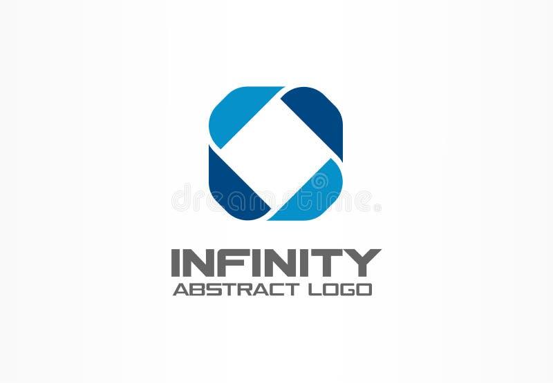 Logotipo abstracto para la empresa de negocios Elemento del diseño de la identidad corporativa Infinito redondo, desarrollo, logí stock de ilustración