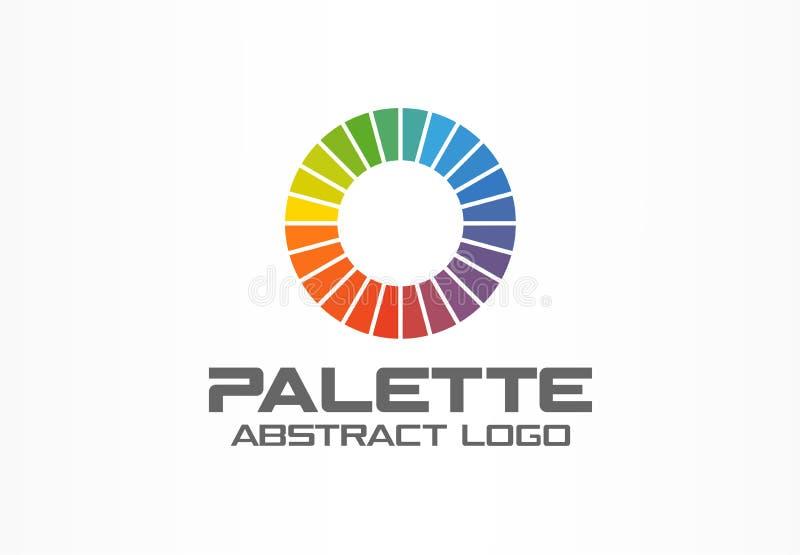 Logotipo abstracto para la empresa de negocios Elemento del diseño de la identidad corporativa Segmentos del círculo de color, lo libre illustration