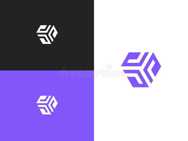Logotipo abstracto para la empresa de negocios Ilustraci?n del vector ilustración del vector