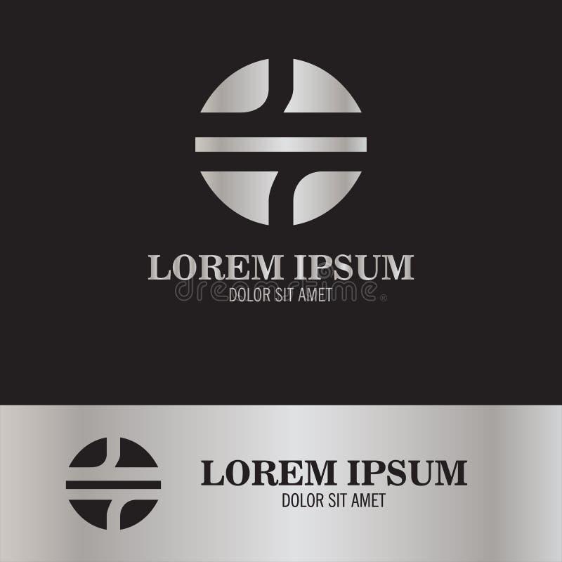 Logotipo abstracto redondo stock de ilustración
