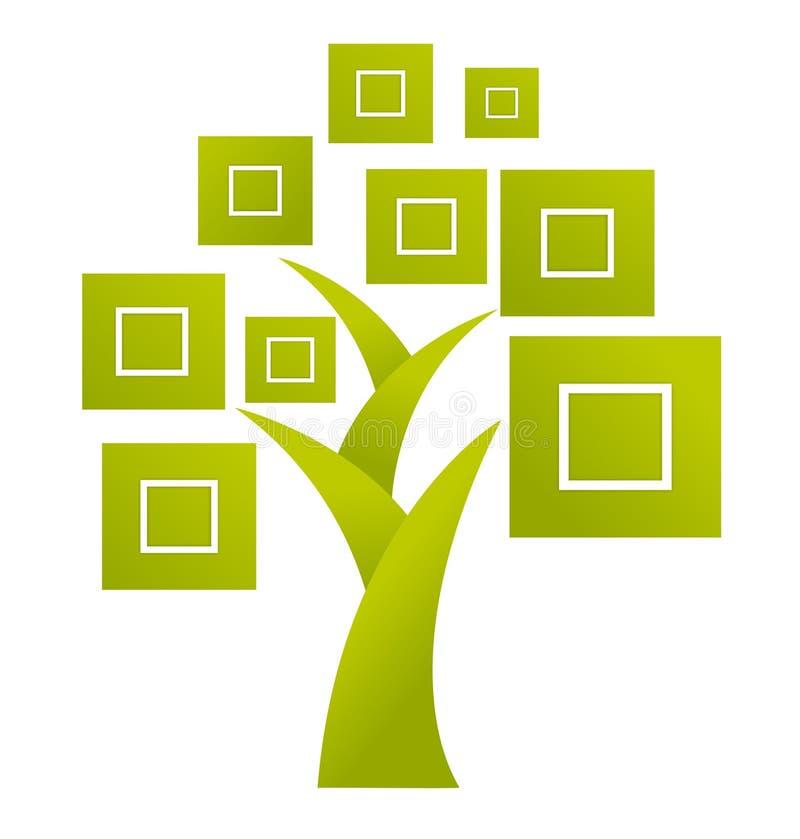 Logotipo abstrato da árvore - vetor ilustração stock
