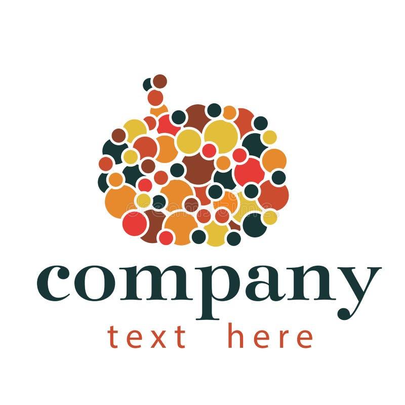 Logotipo abstrato da abóbora fotografia de stock