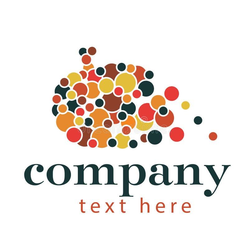 Logotipo abstrato da abóbora imagens de stock