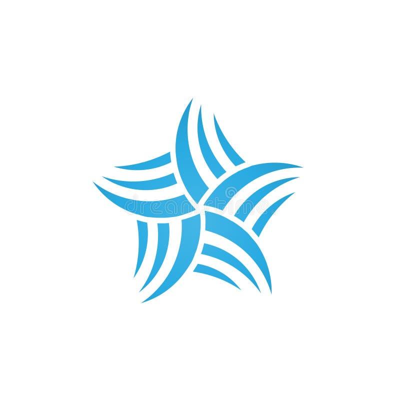 Logotipo abstrato da estrela ilustração stock