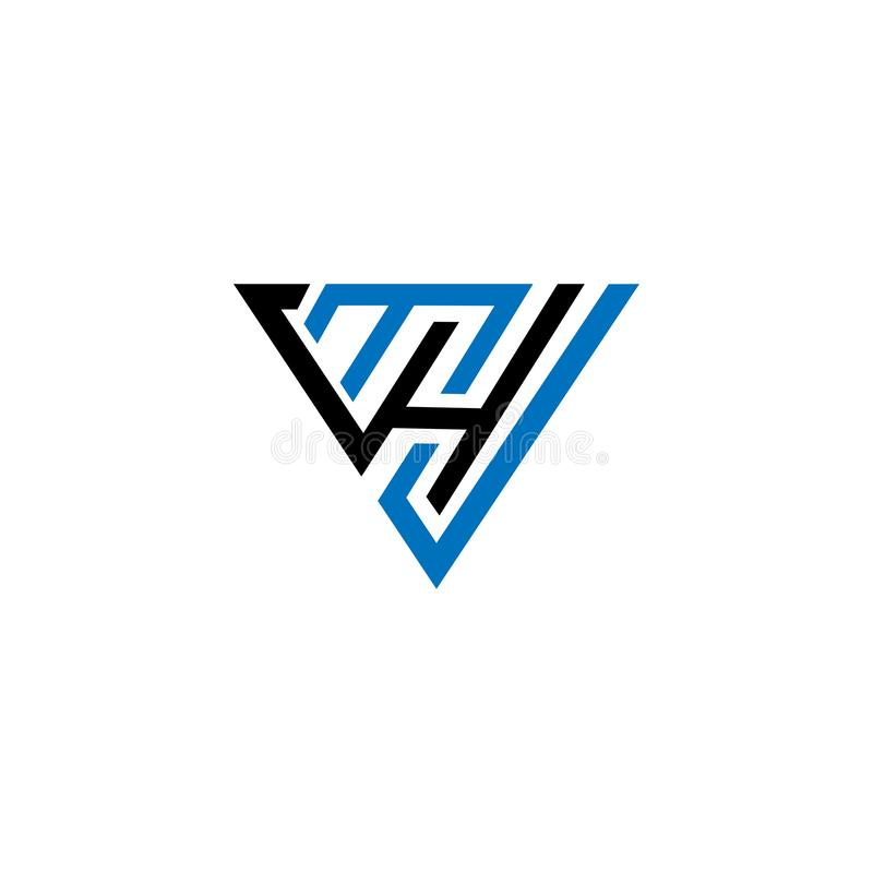 Logotipo abstrato da inicial da letra do HM do MH símbolo da geometria do HM do MH, molde do logotipo do vetor do ícone do alfabe ilustração do vetor
