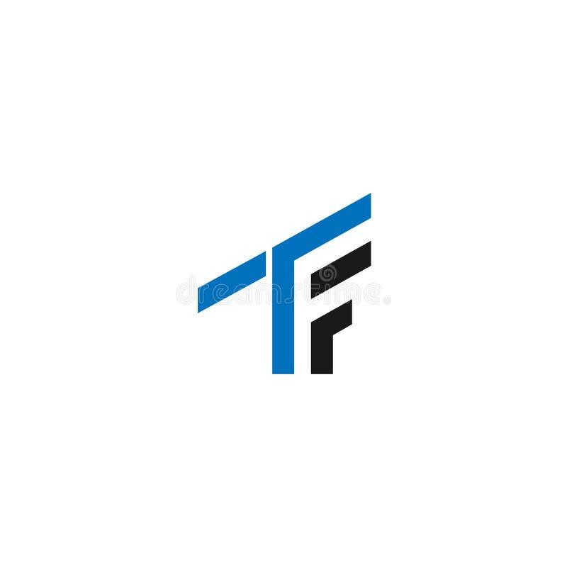 Logotipo abstrato da inicial da letra do TF símbolo da geometria do TF, molde do logotipo do vetor do ícone do alfabeto logotipo  ilustração do vetor