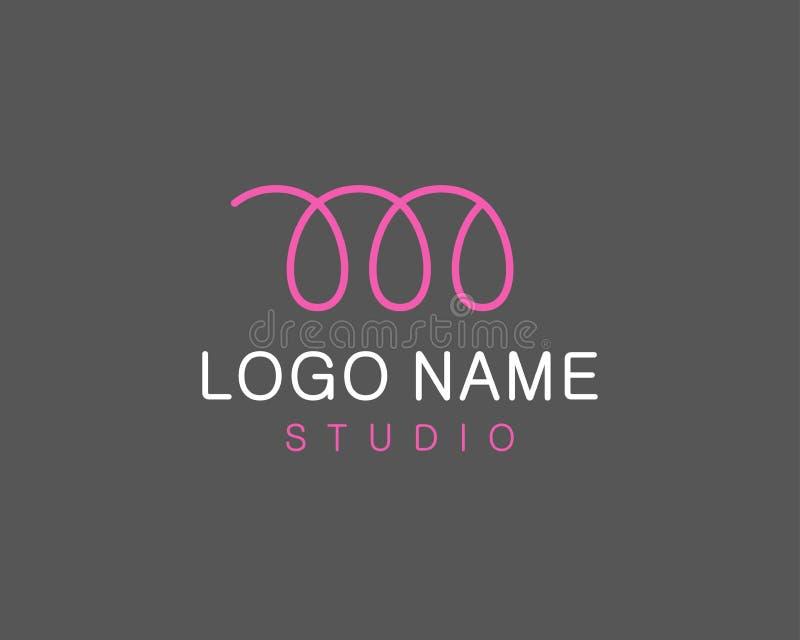 Logotipo abstrato da letra M ilustração royalty free