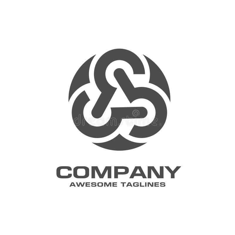 Logotipo abstrato da tecnologia de rede do círculo ilustração stock