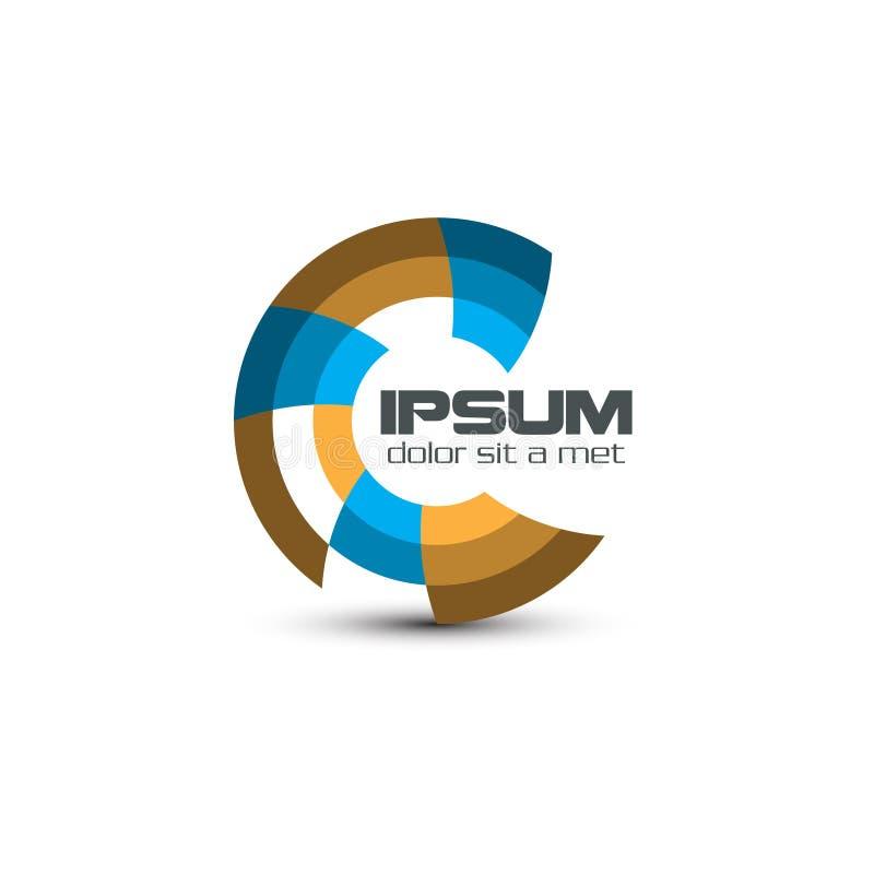 Logotipo abstrato de C para a empresa ilustração stock