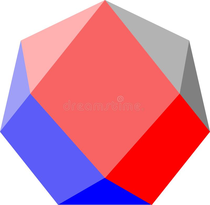 Logotipo abstrato de prisma ilustração do vetor