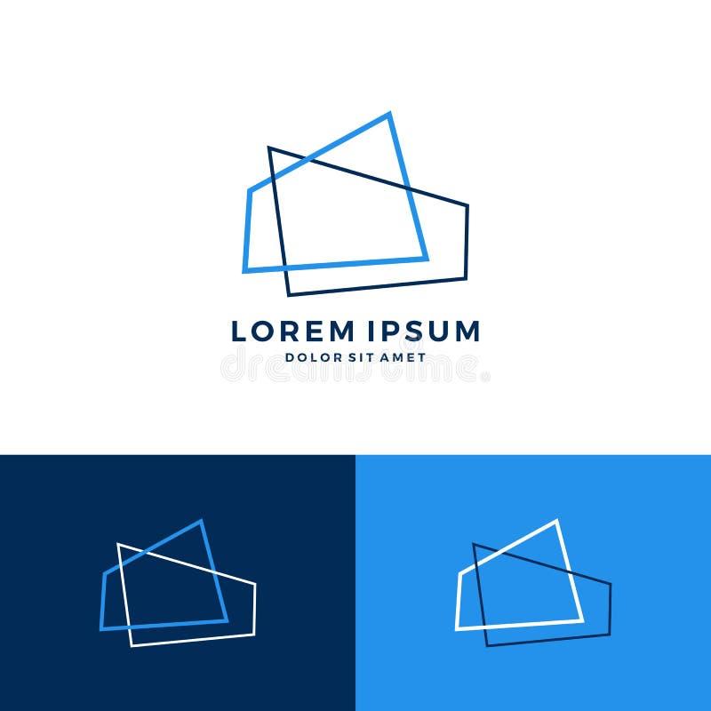 logotipo abstrato do arquiteto do telhado da casa da casa ilustração do vetor