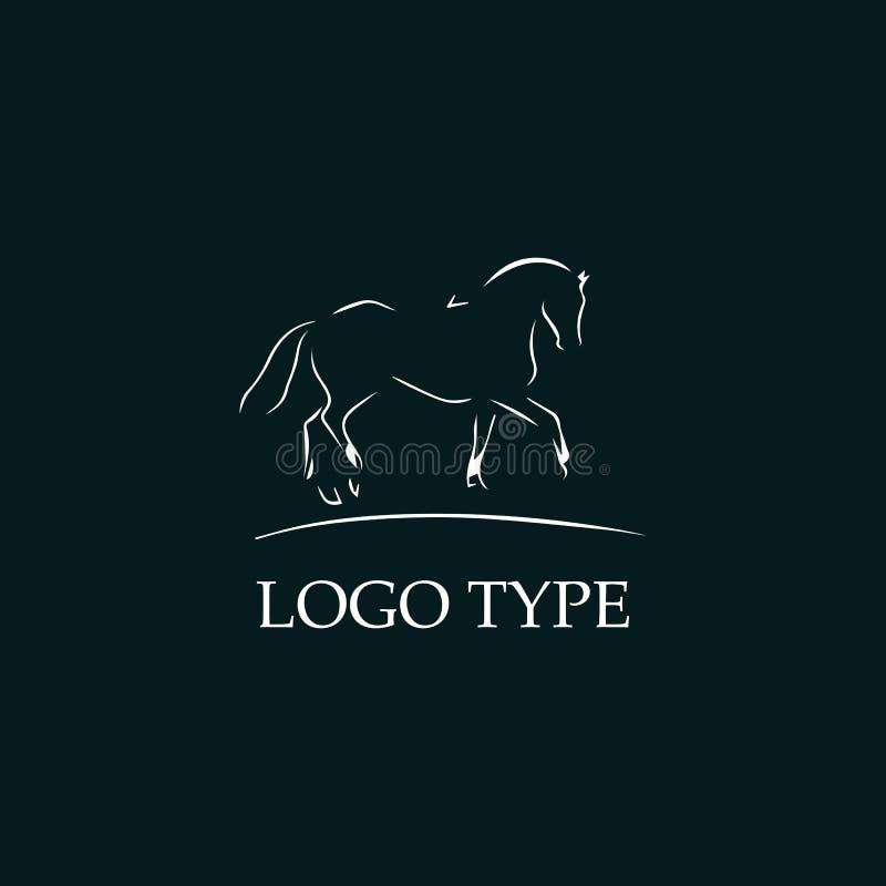 Logotipo abstrato do cavalo ilustração do vetor