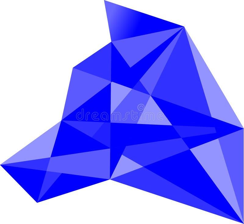 Logotipo abstrato do polígono, vetor Logo Design ilustração do vetor