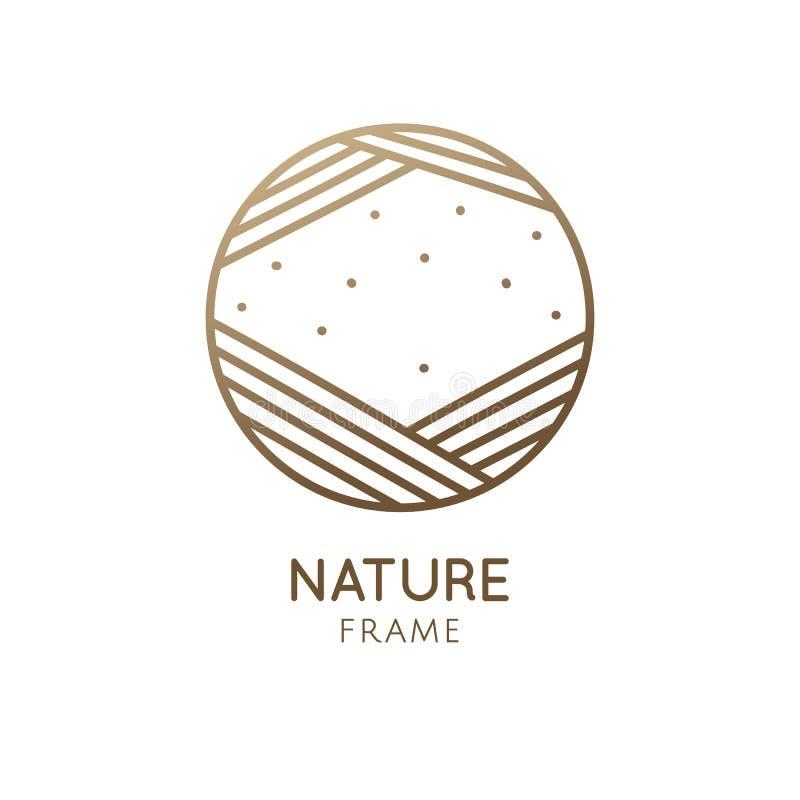 Logotipo abstrato do quadro de Minimalistic ilustração stock