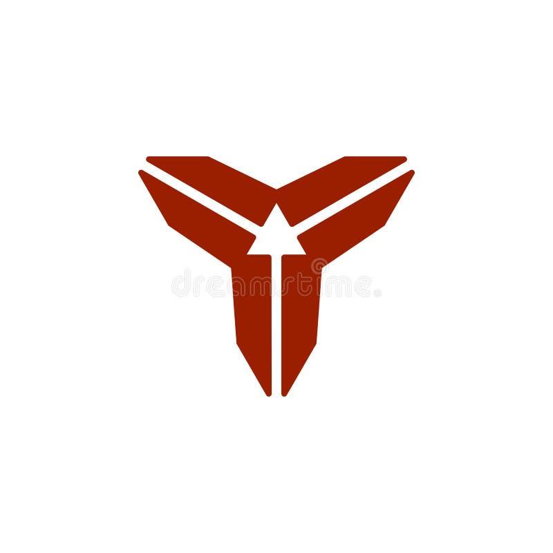 Logotipo abstrato do sentido da letra 3 de Y ilustração do vetor