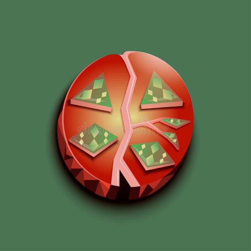 Logotipo abstrato do tomate fotografia de stock royalty free
