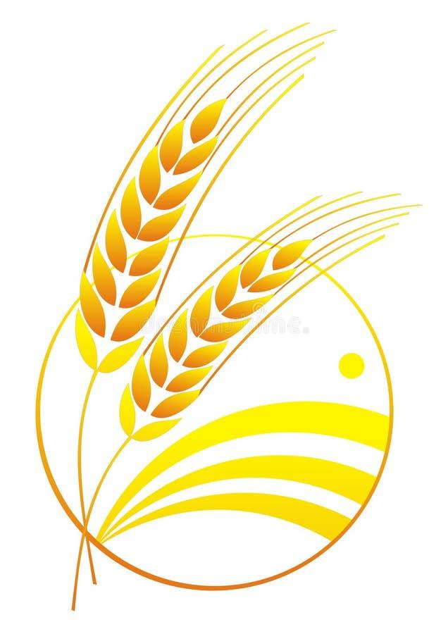 Logotipo abstrato do trigo ilustração stock