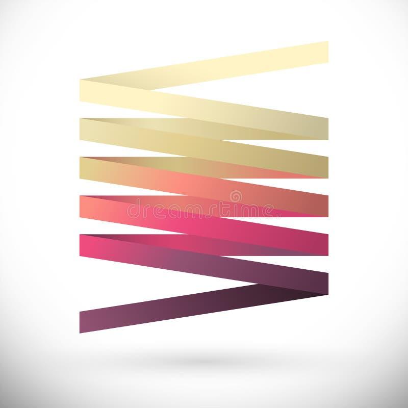 Logotipo abstrato do vetor ilustração stock