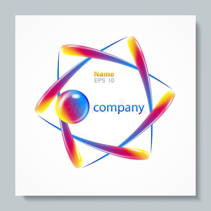 Logotipo abstrato do vetor Molde do projeto do elemento Símbolo creativo ilustração stock