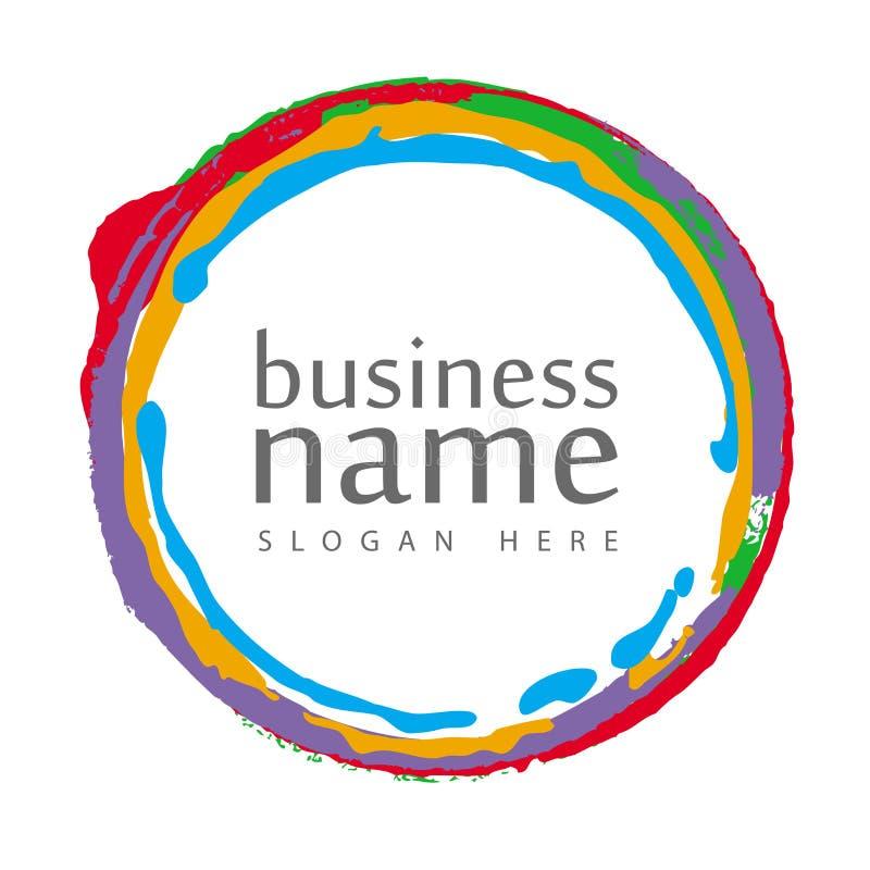 Círculo colorido do logotipo ilustração royalty free
