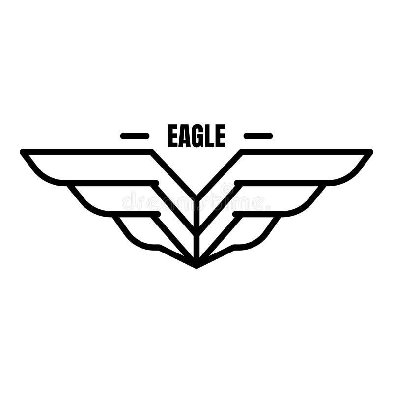 Logotipo aerotransportado de Eagle, estilo del esquema stock de ilustración