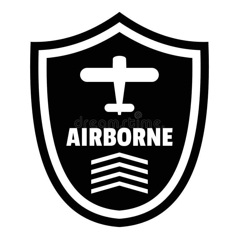 Logotipo aerotransportado de la insignia, estilo simple stock de ilustración