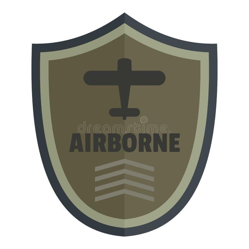Logotipo aerotransportado del icono, estilo plano stock de ilustración