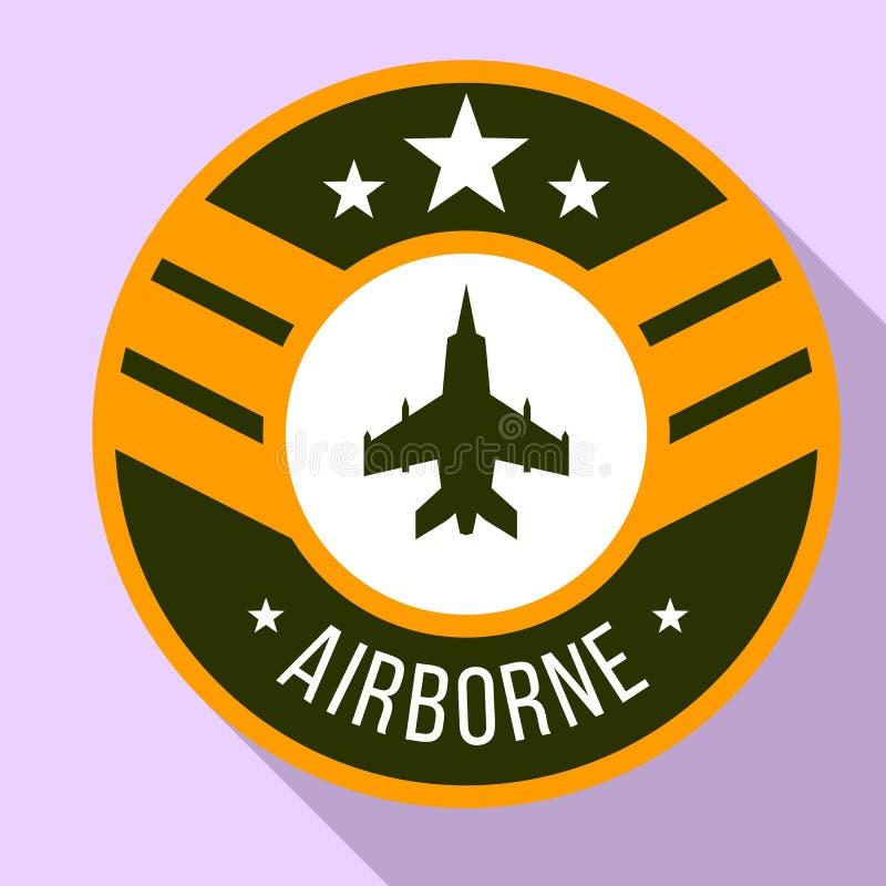 Logotipo aerotransportado, estilo plano ilustración del vector