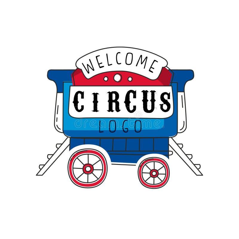 Logotipo agradable del circo, emblema para el parque de atracciones, festival, partido, plantilla creativa de flyear, carteles, c libre illustration