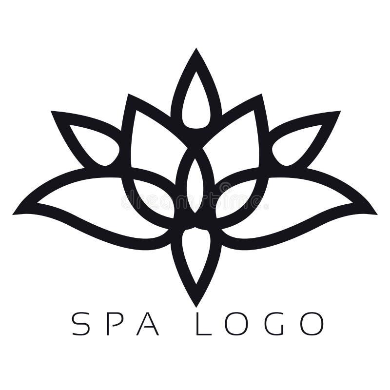 Logotipo aislado del balneario libre illustration
