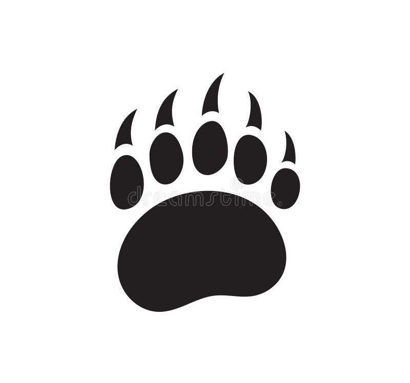 Logotipo aislado vector de la huella del oso ilustración del vector