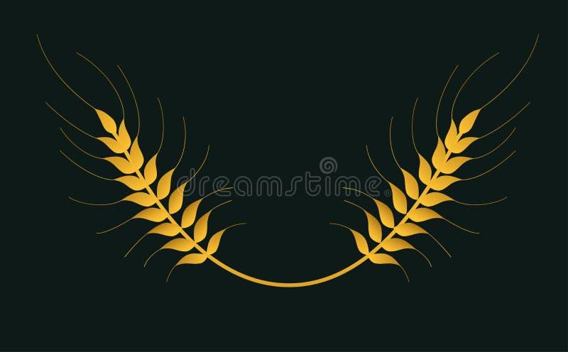 Logotipo aislado vector del trigo imagenes de archivo