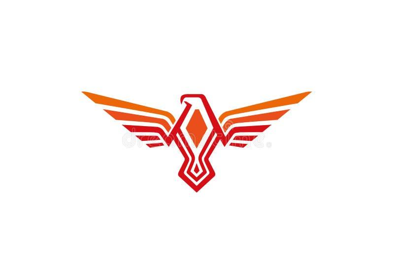 Logotipo alaranjado criativo de Phoenix ilustração do vetor
