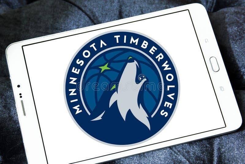Logotipo americano da equipa de basquetebol de Minnesota Timberwolves imagem de stock royalty free