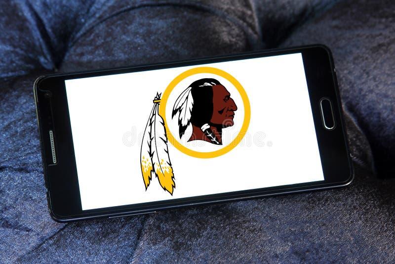 Logotipo americano da equipa de futebol de Washington Redskins foto de stock royalty free